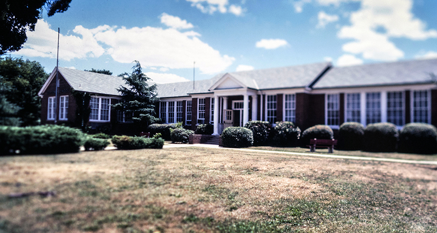 Photograph of the old Lorton Elementary School taken during the 1980s.